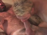 Pretty fellow is too much cock hungry and skillfully blows bear`s dong.